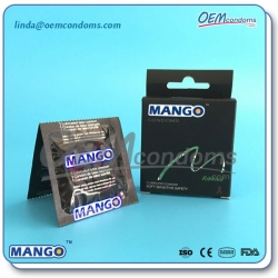 MANGO Ribbed condoms