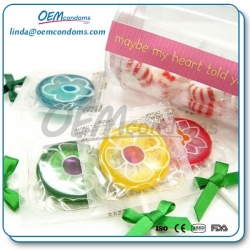 Flavored bulk condoms