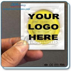 Custom branded condoms